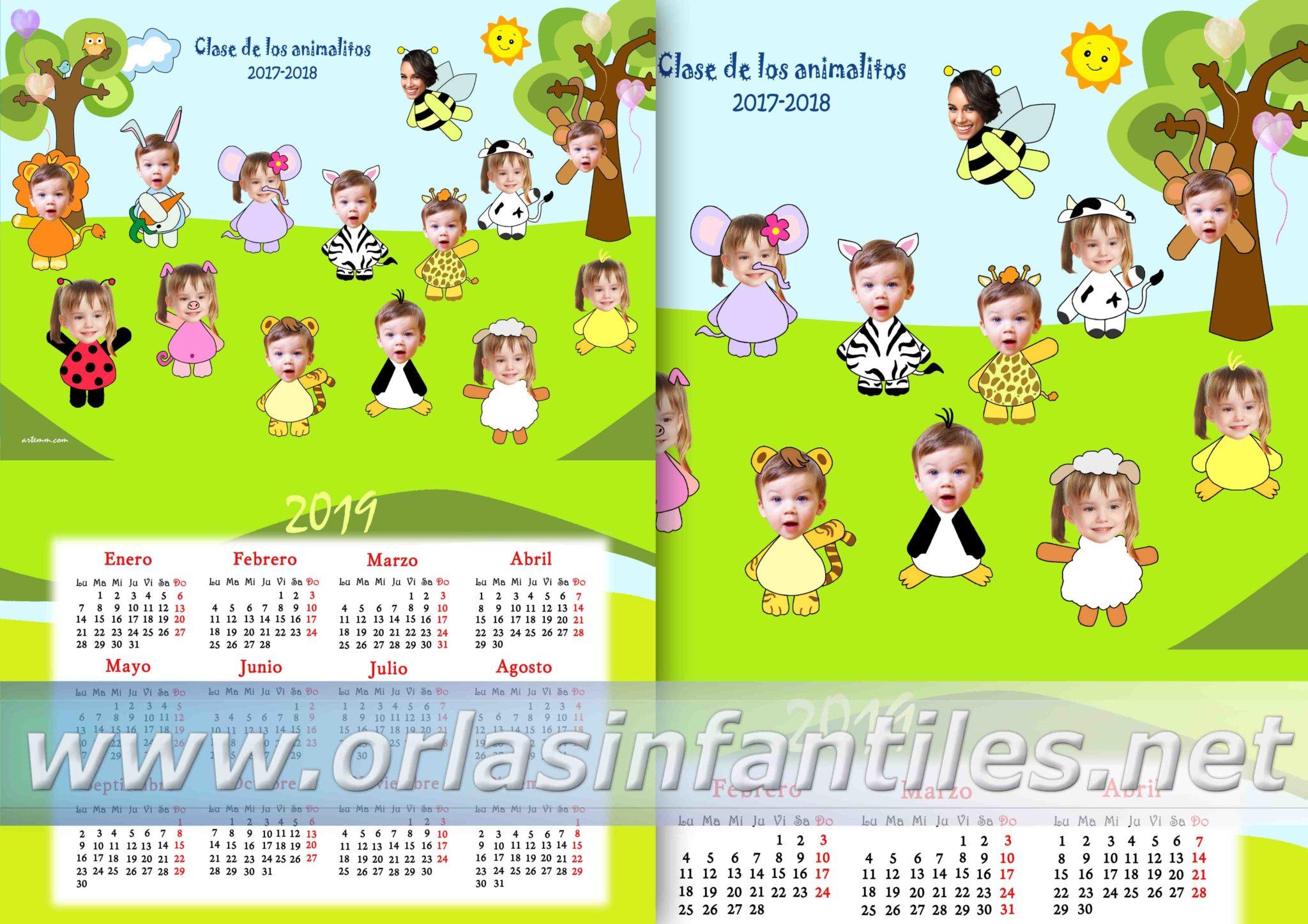 CALENDARIO CLASE DE LOS ANIMALITOS