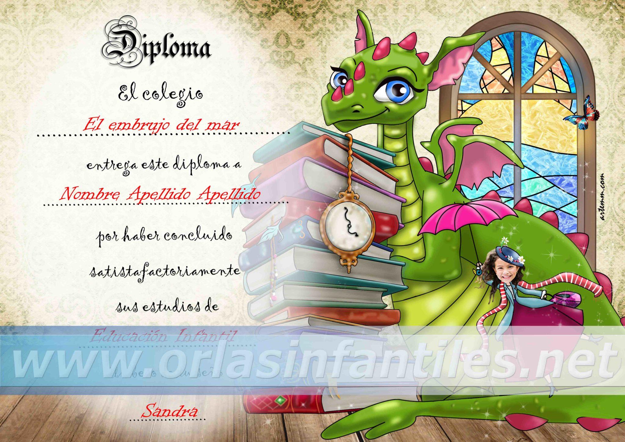 Diplomas Orla Dragón con magia