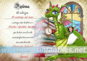 Diploma Dragón con magia 2