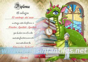 Diploma Dragón con magia 3