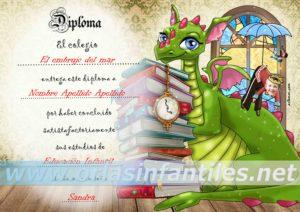 Diploma Dragón con magia 4