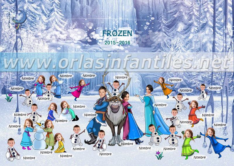 Orla infantil Frozen Nombres