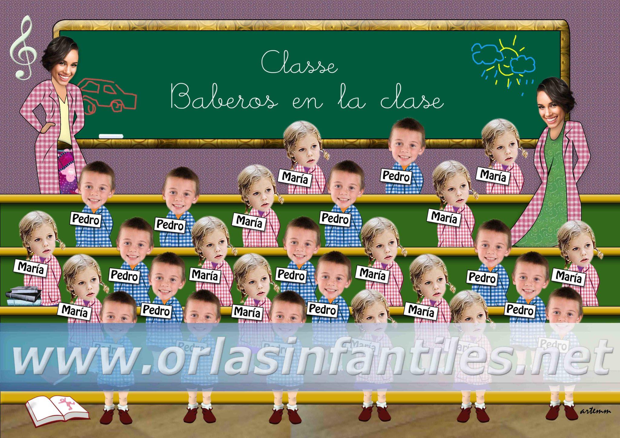 ORLA BABEROS EN LA CLASE