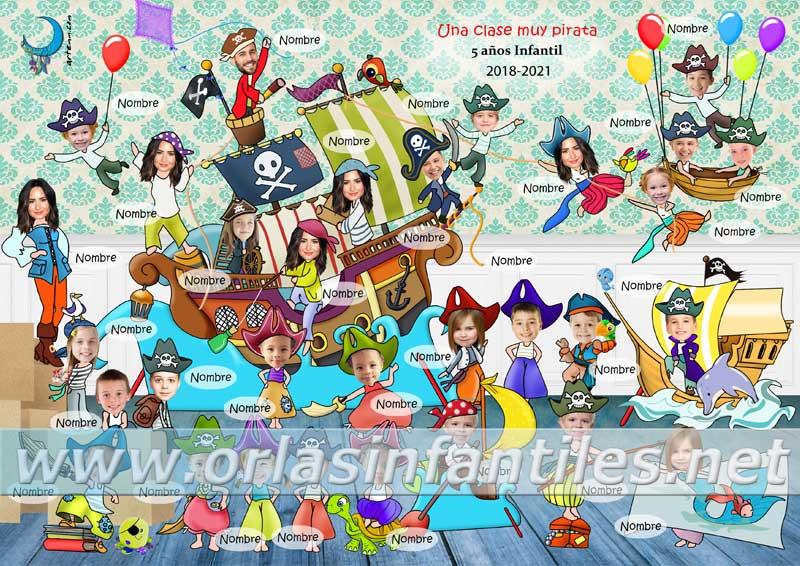 Orla Una clase muy pirata Nombres 31 personas