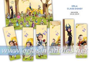Orla infantil Clase Disney Marcapáginas