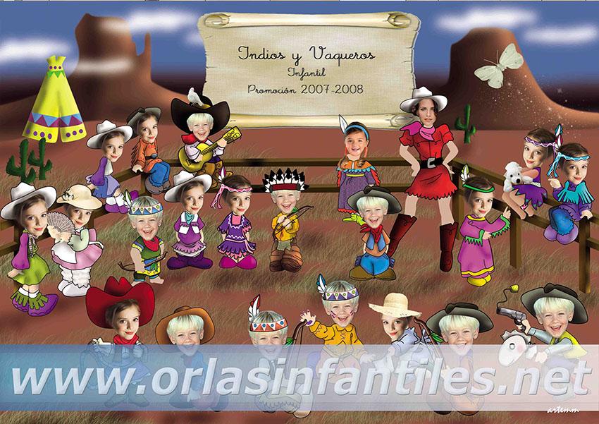 Orla Indios y vaqueros