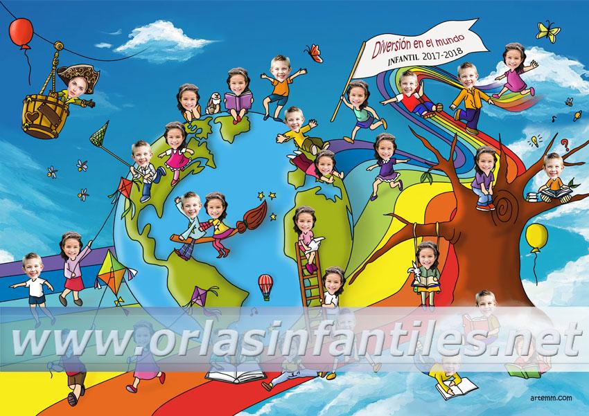 Orla infantil Diversión en el mundo